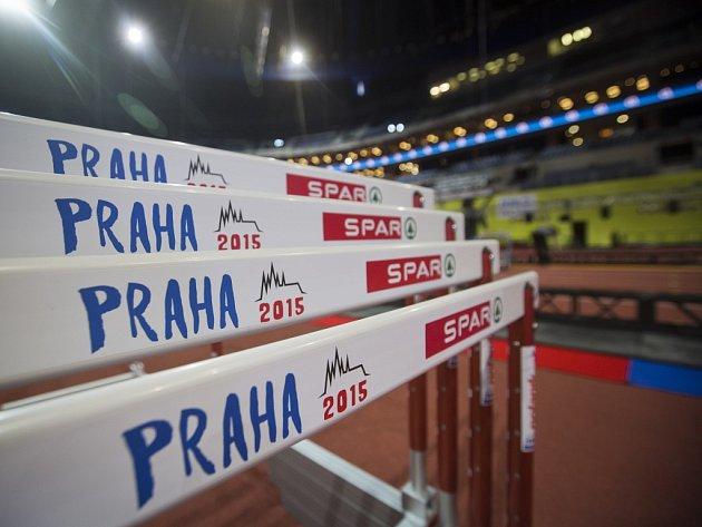 V pražské O2 areně vrcholily v pondělí 2. března 2015 přípravy na halové mistrovství Evropy v atletice.