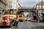Rekonstrukce Negrelliho viaduktu a tramvajové trati v Sokolovské ulici.