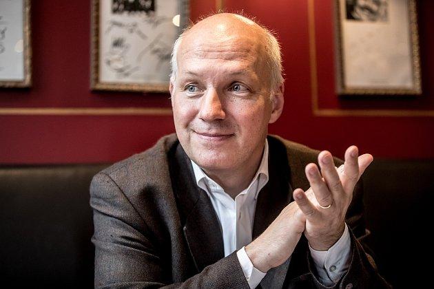 Pavel Fischer při rozhovoru pro Deník.