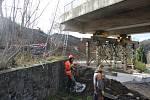 Rekonstrukce mostu v Davli (listopad 2017)