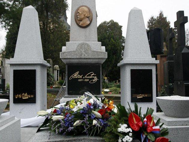 Hrob  Bedřicha Smetany na vyšehradském hřbitově.