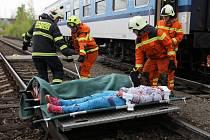 Cvičení IZS - Vlak 2017,simulace nehody a následný zásah.
