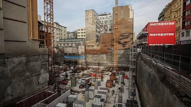 Václavské náměstí 47, budoucí Květinový dům.
