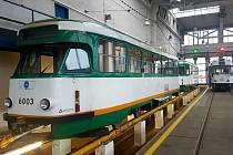 Tramvaje T2R v dílnách Ekova Electric.