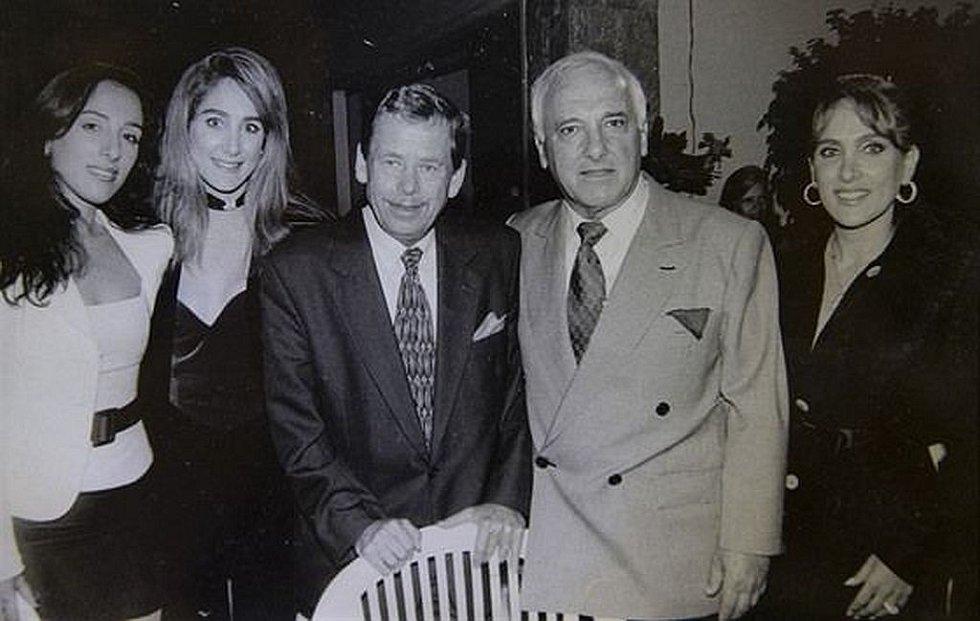 Freddy Sobotka s prezidentem Václavem Havlem při jeho návštěvě v září roku 1996.