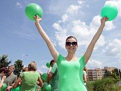 Pokus o zápis do české knihy rekordů o největší skupinu lidí oblečených v zeleném a shromážděných na jednom místě – ulice Siemensova na Praze 13. Konečný počet lidí byl 270.