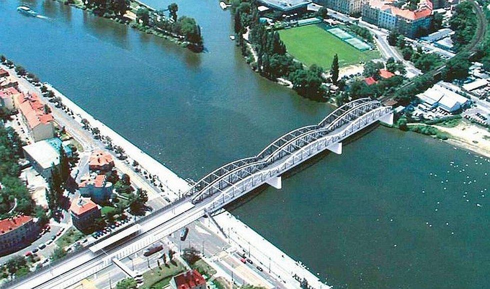 Jedna ze zvažovaných variant v minulých letech: most dvojče