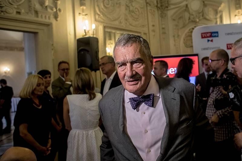 Top 09 zahájila 4. září v Praze svoji kampaň do podzimních parlamentních voleb. Na snímku Karel Schwarzenberg