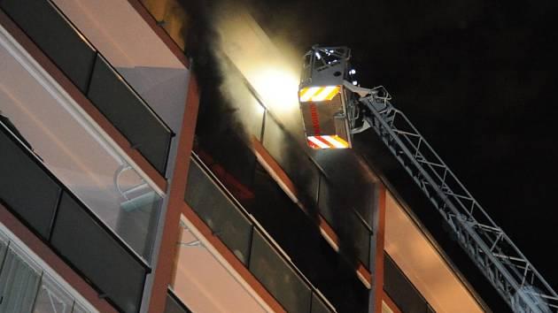 Požár na Chodově.