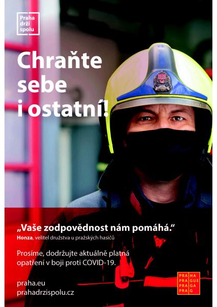 Hlavní město spustí novou kampaň proti koronaviru. Svou tvář jí propůjčili lidé vprvní linii.