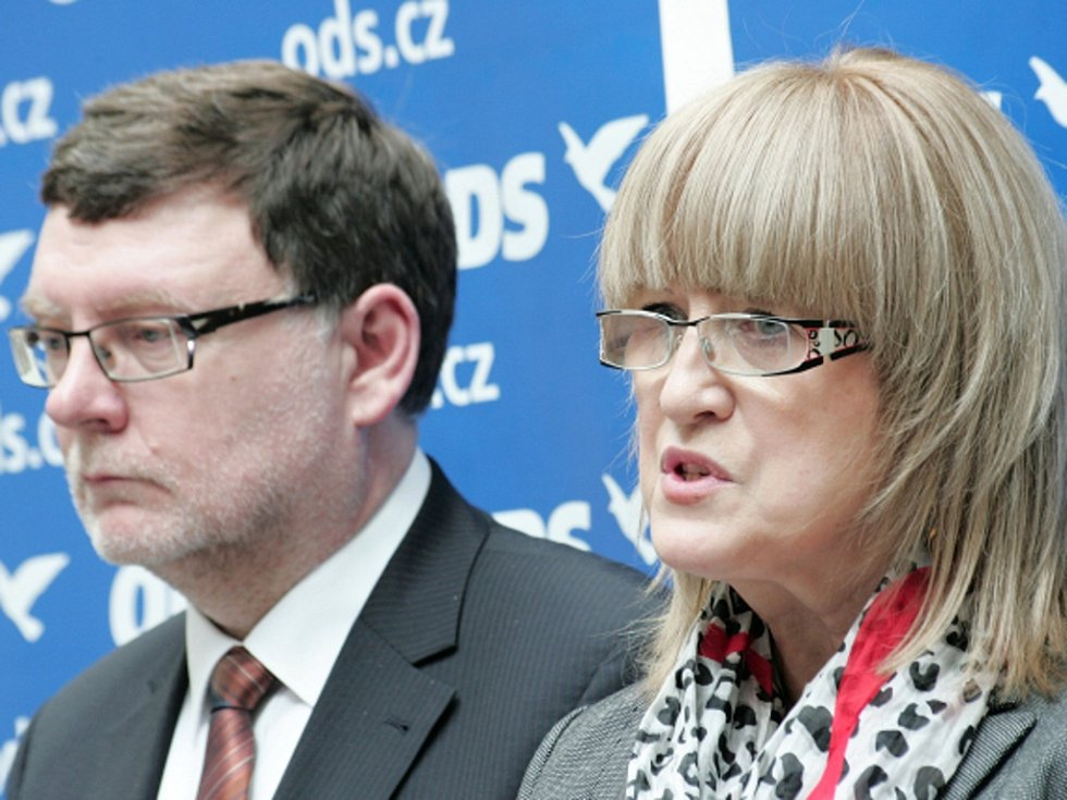 Občanští demokraté Zbyněk Stanjura a Jaroslava Janderová.