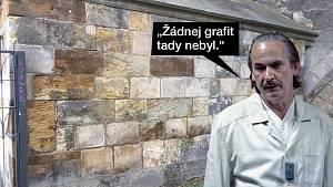 Záhadné odstranění graffiti z Karlova mostu