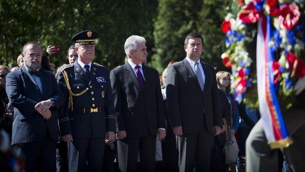 Pietní vzpomínka na padlé sovětské vojáky se konala v pátek 9. května 2014 na Olšanských hřbitovech v Praze u příležitosti 69. výročí ukončení druhé světové války.