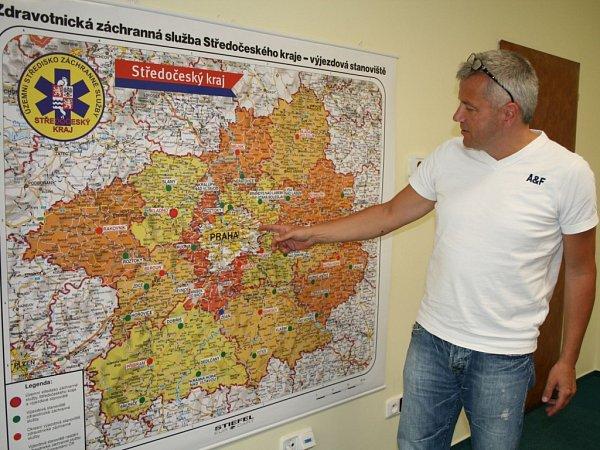 Ředitel Zdravotnické záchranné služby Středočeského  kraje Martin Houdek.