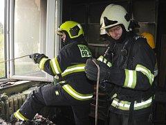 Požár bytu v Jeremenkově ulici.