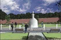 Vizualizace pomníku Marie Terezie.