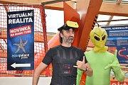 Virtuální tobogán v Aquapalace v Čestlicích.