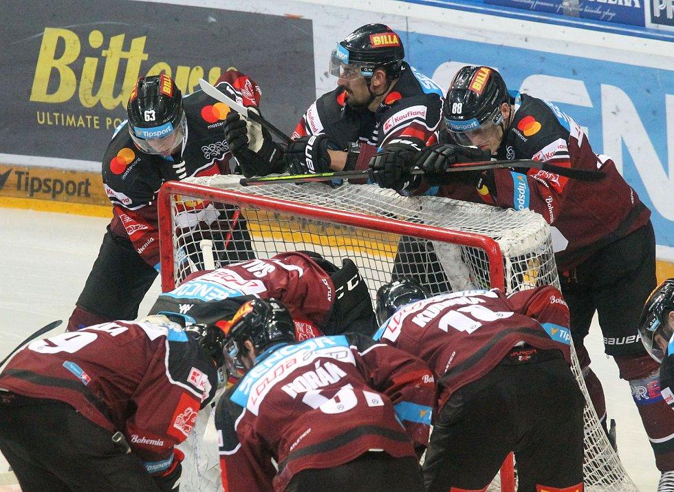 Druhý zápas semifinále play off Tipsport extraligy: HC Sparta - Bílí tygři Liberec 1:3