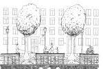 Výsadba stromů v Budečské ulici.