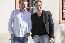 Stanislav Vlček (40), vedoucí týmu Slavie a Miroslav Baranek (42),