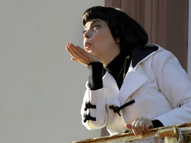 Francouzská šansoniérka Mireille Mathieu.