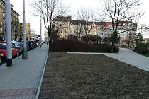 Pozemek pro kavárnu na Ortenově náměstí.