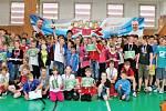 Projekt sportování školní mládeže Odznak všestrannosti olympijských vítězů v areálu Základní školy Nad Přehradou v Horních Měcholupech.