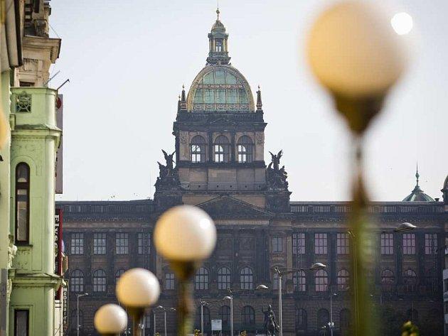 Národní muzeum a část Václavského náměstí. Ilustrační foto.