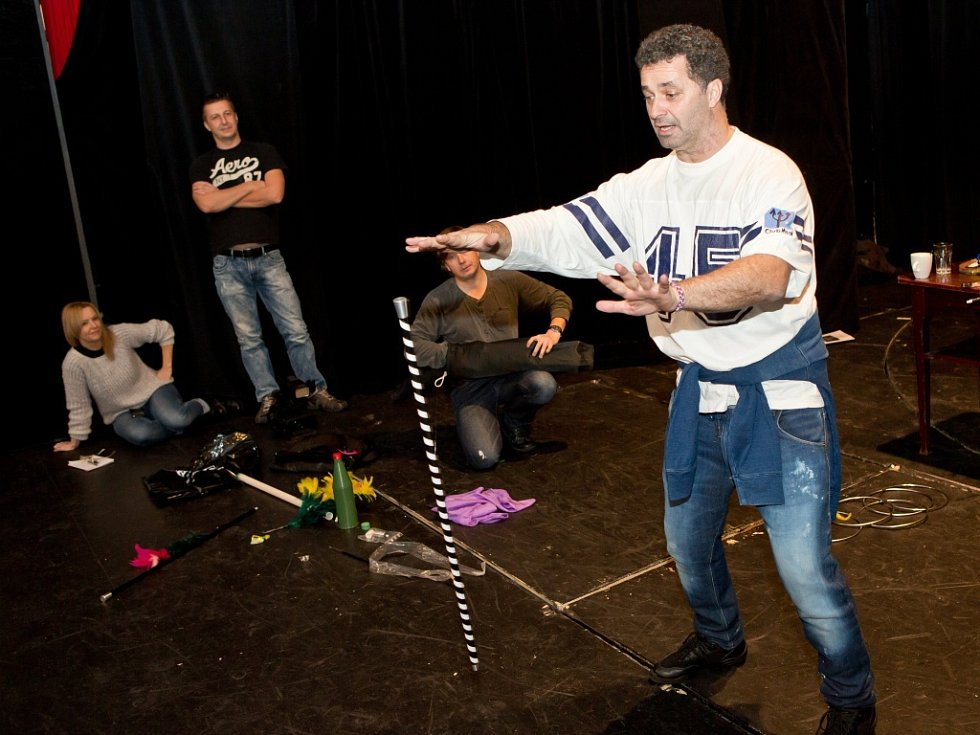 Herec Martin Dejdar v muzikálu Mýdlový princ.