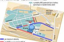 Dopravní omezení v Praze při mistrovství světa v ledním hokeji.