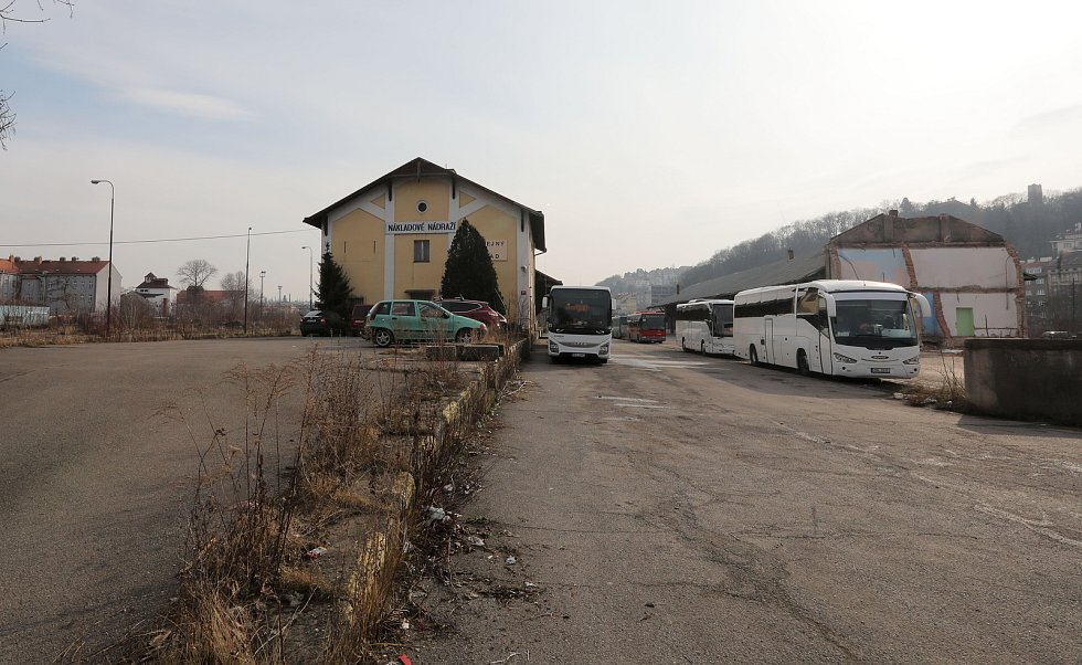 Prostory pro developerský projekt Smíchov City mezi Smíchovským nádražím a Knížecí.