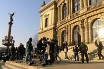 Filmaři v Praze.