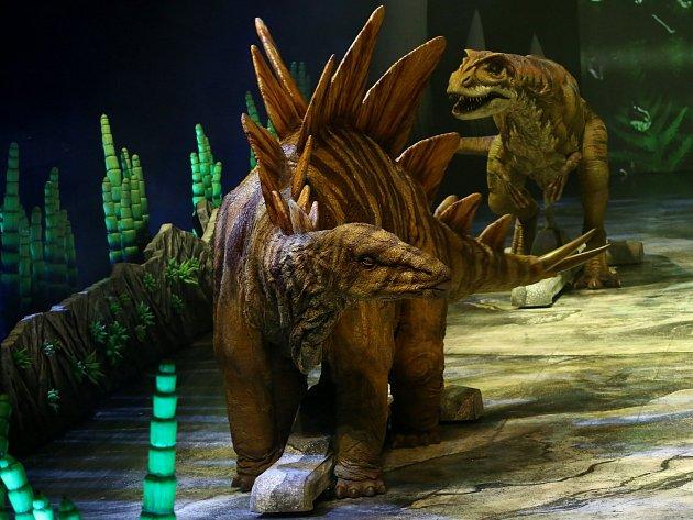 Generální zkouška představení Putování s dinosaury