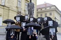 Občanský happening k oznámení kandidatury Miloše Zemana v příštích prezidentských volbách