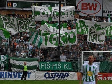 CHOREO NEPOMOHLO. Ani tvořivost fanoušků nepomohla v neděli fotbalistům Bohemians 1905 ke zdolání Sokolova. Hosté si odvezli z vršovického ďolíčku výhru 1:0.