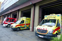 Nově otevřené stanoviště záchranářů v Průběžné ulici.