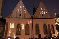 Světelné a hudební představení videomapping Betlémská odysea.
