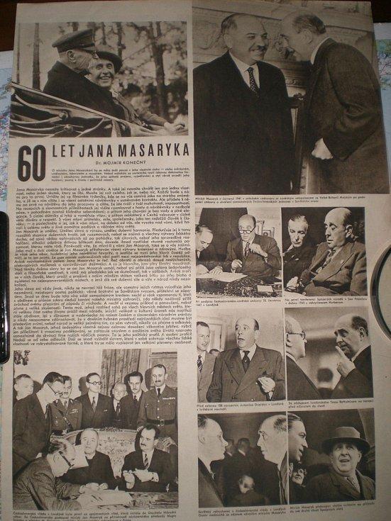 Článek Mojmíra Konečného k šedesátinám Jana Masaryka.