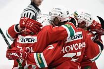 Hokejisté Slavie mají důvod k radosti. Po výhře nad třetím Prostějovem poskočili na desátou příčku. Budou se zvedat i nadále?