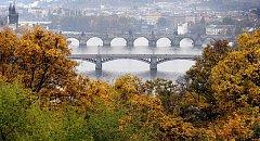 Podzim v Praze.