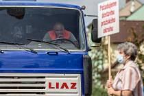 Akce Občanské iniciativy za dostavbu Pražského okruhu.