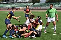 Mistrovství České republiky v ragby žen o sedmi hráčkách se konalo v neděli 6.9.2020 na stadionu Markéta v Praze 6. Foto: ZDENĚK BIERHANZL