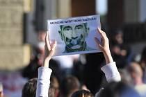 Protest proti Babišovi.