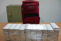 Celkem se podařilo najít 3600 krabiček nezdaněných cigaret.