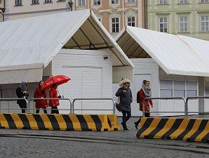 Velikonoční trhy na Staroměstském náměstí. Příprava a vizualizace