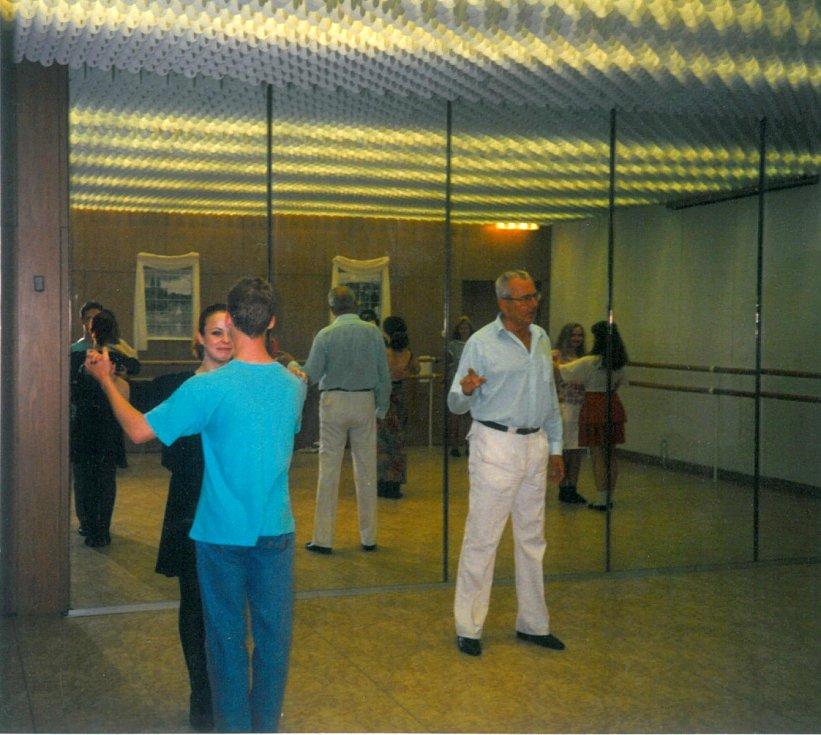 V roce 1997 při školení v Paláci kultury.