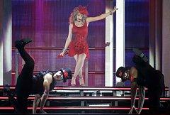 Koncert zpěvačky Kylie Minogue v pražské O2 Aréně.