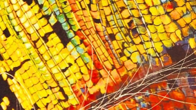 Část obrazu s názvem Pod povrchem od malíře Jindřicha Brejchy.