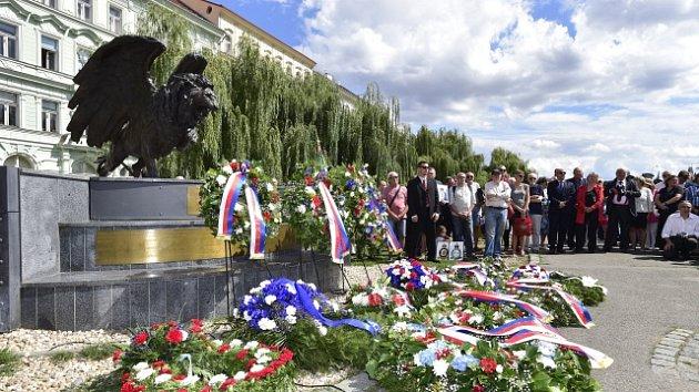 U pomníku válečným letcům v podobě okřídleného lva na Klárově v Praze se 14. srpna 2018 konal pietní akt při příležitosti oslav 100. výročí založení československého letectva.