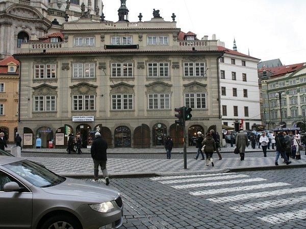 Malostranské náměstí vPraze.